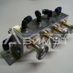 Фото: Пневматический блок управления донными клапанами ПБУ-01-03